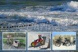 Fietsen-strand-(Ansichtkaart)