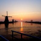 Kinderdijk-zonsopkomst