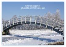 Bruggetje, fijne kerstdagen (Ansichtkaart)