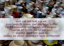 Koffie per post (Ansichtkaart)