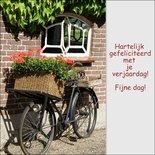 Felicitatie per fiets