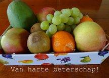 Beterschap, fruitmand (Ansichtkaart)