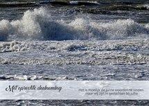 Deelneming, storm (Ansichtkaart)