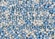 Zoon, muisjes (Ansichtkaart)