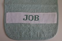 Groene slab 'Job'