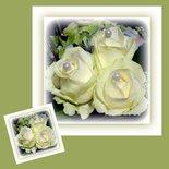 Drie rozen met parels (ENKEL)