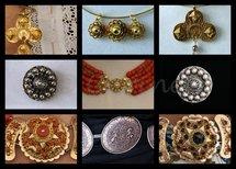 Collage sieraden (Ansichtkaart, groot)