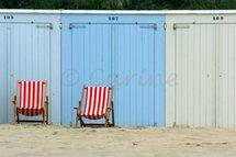 Strandstoelen (Ansichtkaart)