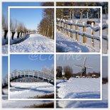 Alblasserwaard in sneeuw