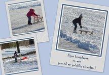 Kinderen op het ijs (Ansichtkaart, groot)