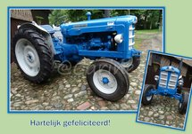 Tractor, blauw (Ansichtkaart)