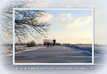 Wingerdse molen in winter (Ansichtkaart, groot)