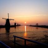 Kinderdijk, zonsopkomst