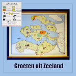 Landkaart Zeeland