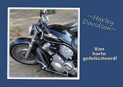 Motor, Harley Davidson (Ansichtkaart)