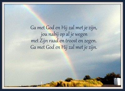 Ga met God (Ansichtkaart)