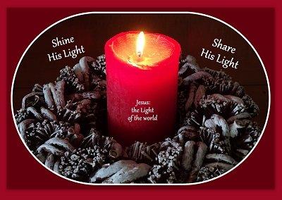 Shine His light (Ansichtkaart)