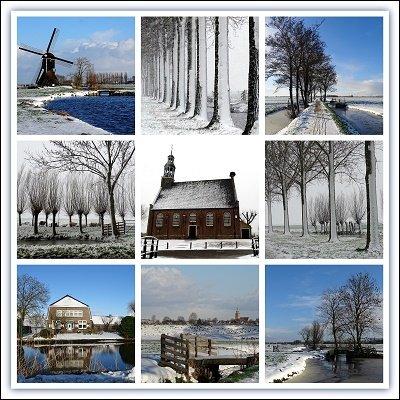 Alblasserwaard in winter