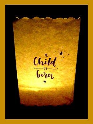 A Child is born (Ansichtkaart)