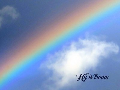 God is trouw (Ansichtkaart)