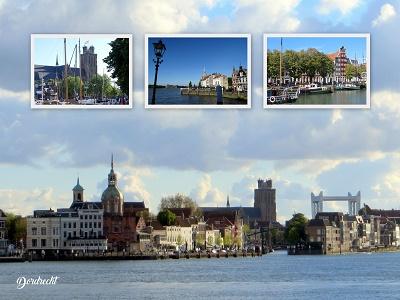Zicht op Dordrecht (Ansichtkaart)
