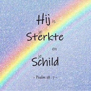 Psalm 28, Schild. Fotokaart nr. TE-25.