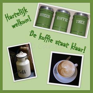 'De koffie staat klaar!' (ENKEL)